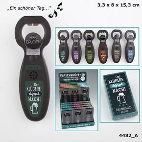 Flaschenöffner für jeder Man(n) singend Spruch und Musik sortiert 1Stck