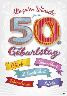 Musikkarten mit Überraschung 009a zum 50. Geburtstag