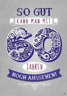 Musikkarten mit Überraschung 011a zum 60. Geburtstag