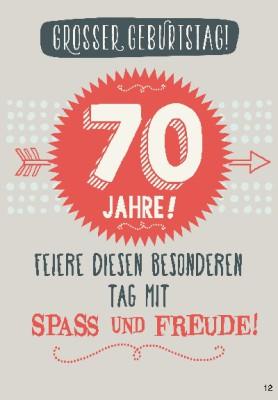 Musikkarten mit Überraschung 012b zum 70. Geburtstag