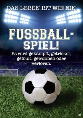 Musikkarten mit Überraschung 025a Fussball Spiel