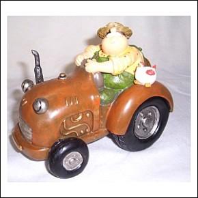 Traktor mit Bauer