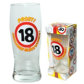 Bierglas Prost zum 18. Geburtstag Artikel 67390