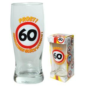 Bierglas Prost zum 60. Geburtstag