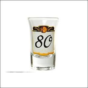 Schnapsglas zum Geburtstag 80 elegant Artikel 70635