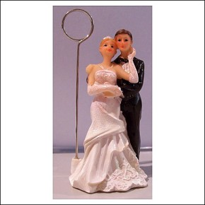 Brautpaar stehend mit Fotoclip sortiert 1 von 2 Modellen