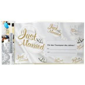 """Riesen-Umschlag """"Just Married"""" zur Hochzeit"""