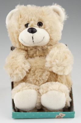 Plüschteddy Teddybär für Kinder 003 neutral beige langes Plüsch