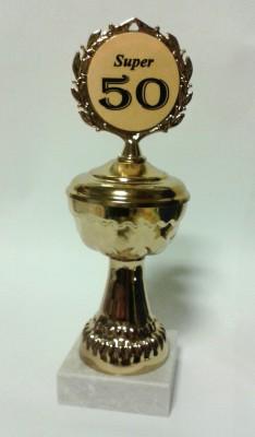 Pokal auf Marmorsockel zum 50. Geburtstag Artikel 66800