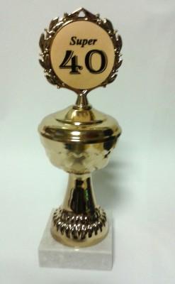 Pokal auf Marmorsockel zum 40. Geburtstag Artikel 66800
