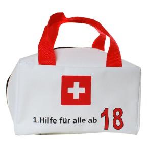 """Tasche """"1. Hilfe für alle ab 18"""" ungefüllt"""