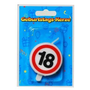 """Zahlenkerze Tortenkerze """"18"""" 20g (Grundpreis 100g: 14,75 EUR)"""