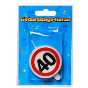 """Tortenkerze """"40"""" Zahlenkerze 20g (Grundpreis 100g: 14,75 EUR)"""