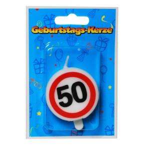 """Tortenkerze """"50"""" Zahlenkerze 20g (Grundpreis 100g: 39,75EUR)"""