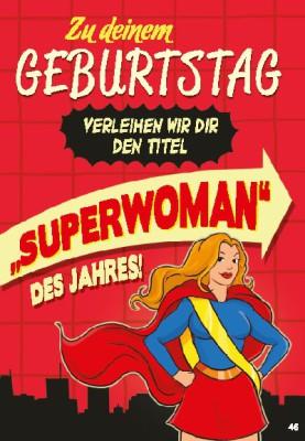 Musikkarten mit Überraschung 046a Superwoman