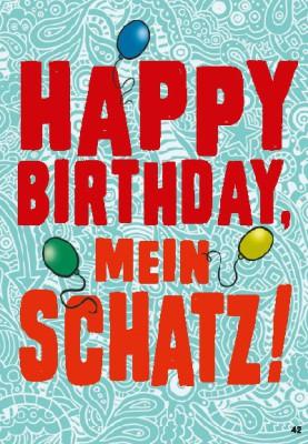 Musikkarten mit Überraschung 042a Happy Birthday mein Schatz!