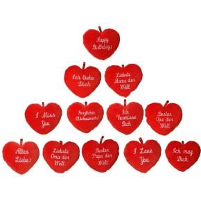 Herz mit Spruch 30 cm Plschkissen sortiert 1 von 12 Varianten