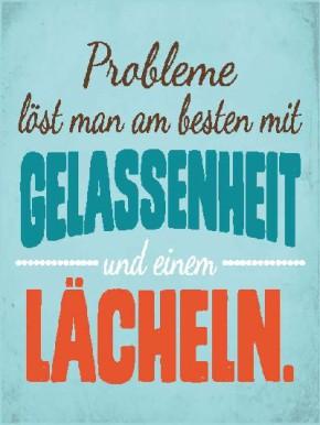Sprüche Schild On the Wall 13,5x18 cm Probleme 001