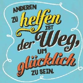 Sprüche Schild On the Wall 8,5x8,5 cm Helfen 027