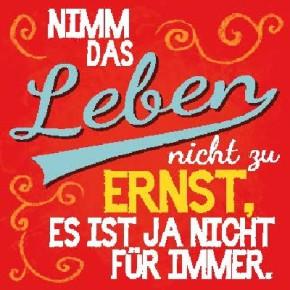 Sprüche Schild On the Wall 8,5x8,5 cm Leben 036