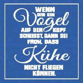 Sprüche Schild On the Wall 8,5x8,5 cm Vogel 037