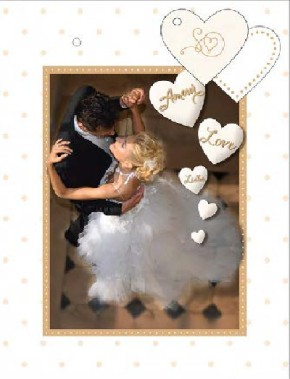 3D Geschenktüte 8 x 15 x 19,7cm Amore, Liebe, Love