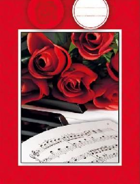 3D Geschenktüte 8 x 15 x 19,7cm Rote Rosen - ohne Text