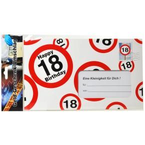 Riesen-Umschlag zum 18. Geburtstag Verpackung Geldgeschenke