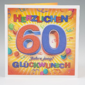 Depesche 3D Klappkarte 005 zum 60. Geburtstag
