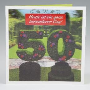 Depesche 3D Klappkarte 004 zum 50. Geburtstag