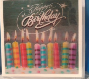 Depesche 3D Klappkarte 029b Happy Birthday Motiv Kerzen
