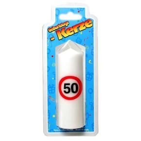 Geburtstags Kerze zum 50. Geburtstag 135g (Grundpreis 100g: 2,93 EUR)