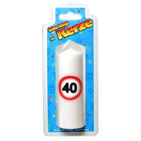 Geburtstags Kerze zum 40. Geburtstag 135g (Grundpreis 100g: 2,93 EUR)