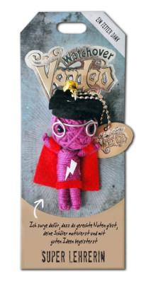Watchover Voodoo Sammel Puppe mit Spruch Super Lehrerin