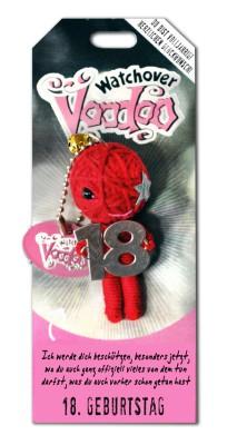Watchover Voodoo Sammel Puppe mit Spruch 18. Geburtstag