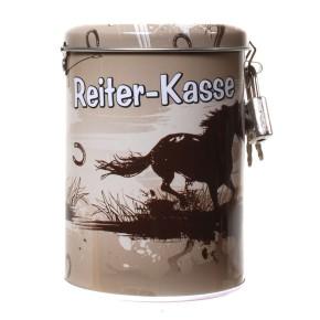 """Spardose """"Reiter-Kasse"""" mit Pferde-Motiv"""