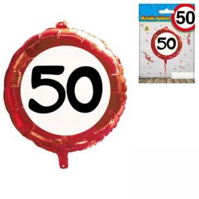 Udo Schmidt Folien-Ballon 50.Geburtstag Kunstsoff 45 cm Partydekoration Geburtstag Luftballon Tischdeko