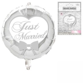 """Udo Schmidt Folienballon Folien-Ballon """"Just Married"""" - zur Hochzeit"""