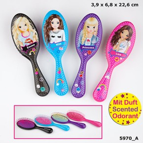 Top Model Haarbürste mit Duft und Buchstabe S - Lila