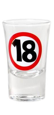 """Schnapsglas """"18""""  1 Glas zum 18. Geburtstag"""