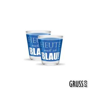 Sheepworld Gruss & Co Sprüche Schnapsglas Nr.18 Blau