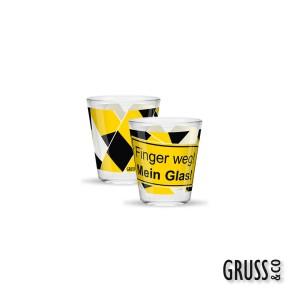 Sheepworld Gruss & Co Sprüche Schnapsglas Nr.22 Finger weg