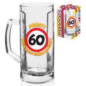 """Bierglas Bierhumpen """"60"""" zum 60. Geburtstag"""