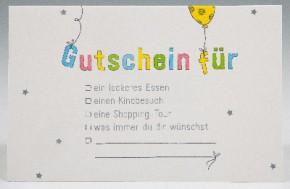 Klappkarte für Geldgeschenke 2239-047 Gutschein für . . .
