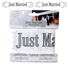 Absperrband Just Married - zur Hochzeit