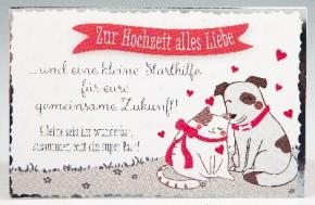 Klappkarte für Geldgeschenke 2239-031 Zur Hochzeit alles Liebe