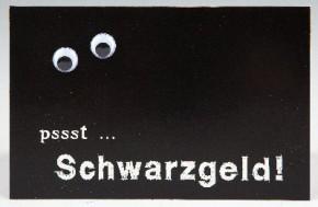 Klappkarte für Geldgeschenke 2239-027 Pssst...Schwarzgeld