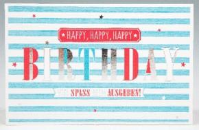Klappkarte für Geldgeschenke 2239-011 Happy, Happy, Happy Birthd
