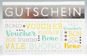 Klappkarte für Geldgeschenke 2239-054 Gutschein/ Bono/ Voucher/