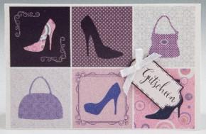 Klappkarte für Geldgeschenke 2239-051 Gutschein - mit Schuhen un